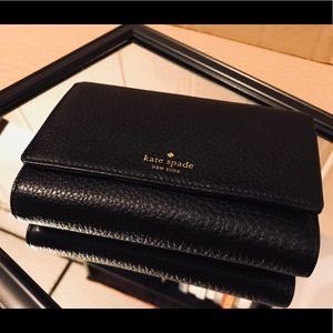 KATE SPADE Grey Street Callie Leather Trifold, NWT